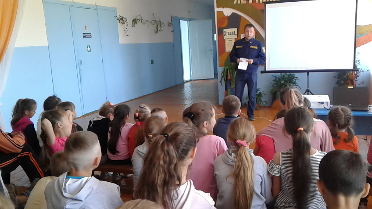 Беседа по правилам пожарной безопасности в летнем пришкольном лагере «Летняя карусель»